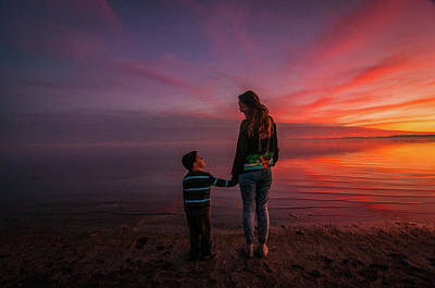 Photograph - Hold My Hand Little Brother by Ralph Vazquez