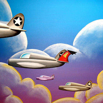 Jets Painting - Hold On Tight by Cindy Thornton