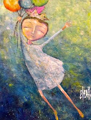 Art Print featuring the painting Hold On Tight by Eleatta Diver