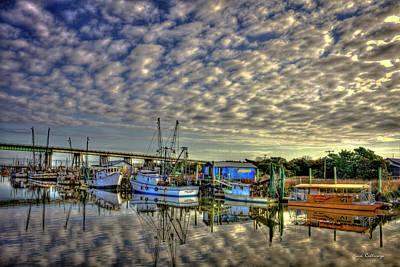 Photograph - Hold Real Still Shrimp Boats Tybee Island Savannah Art by Reid Callaway