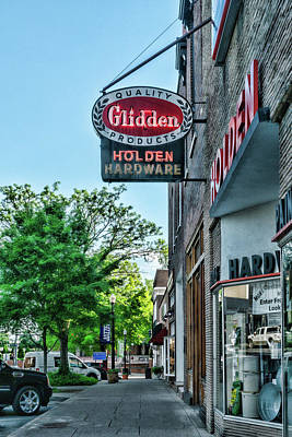 Photograph - Holden Hardware Glidden by Sharon Popek