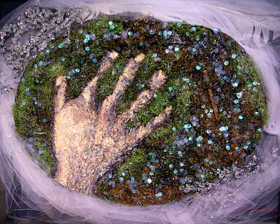 Holding Earth From The Series Our Book Of Common Faith Art Print by Stephen Mead