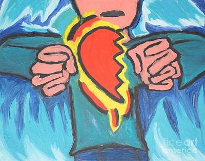 Painting - Holding Half-a-heart by Travis Dosser