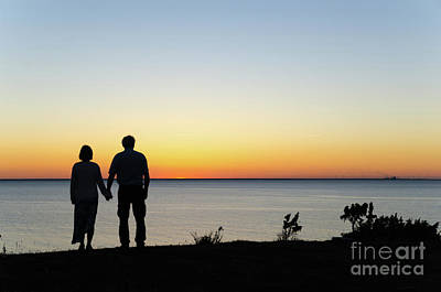 Photograph - Holding Hands By  Sunset  by Kennerth and Birgitta Kullman
