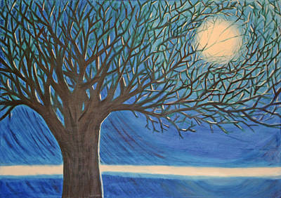 Painting - Holding Moon Memories by Dennis Goodbee