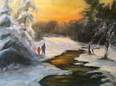 Painting - Holding My Father's Hand by Gail Kirtz