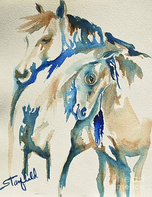 Holding On     War Ponies Original by Johnnie Stanfield