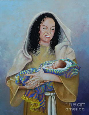 Painting - Holding The King Of Kings by Michael Nowak
