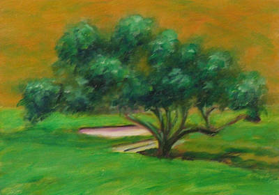 Painting - Hole 14 Split The Difference by Shannon Grissom