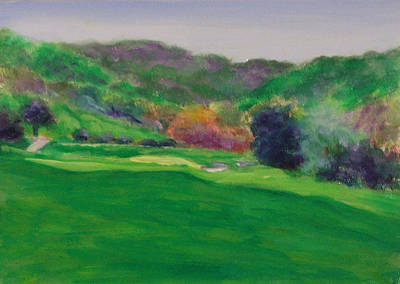 Painting - Hole 15 Spitt's Canyon by Shannon Grissom