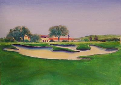 Painting - Hole 18 Safe Passage by Shannon Grissom