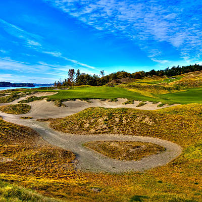 Us Open Photograph - Hole #3 At Chambers Bay by David Patterson