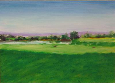 Painting - Hole 8 Mission Green by Shannon Grissom