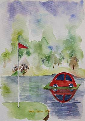 Painting - Hole In One Prize by Geeta Biswas