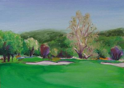 Painting - Hole12 Ohlone Ridge by Shannon Grissom