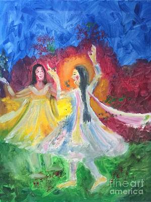 Painting - Holi-festival Of Colors by Brindha Naveen
