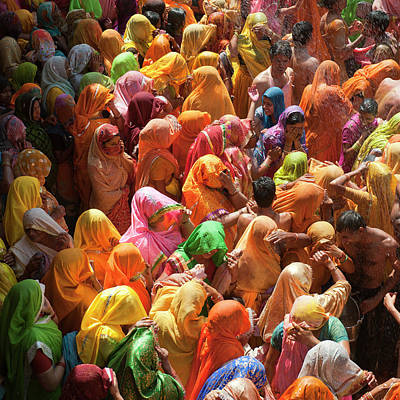 People Photograph - Holi India by Tayseer AL-Hamad