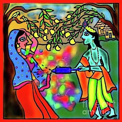 Digital Art - Holi by Latha Gokuldas Panicker