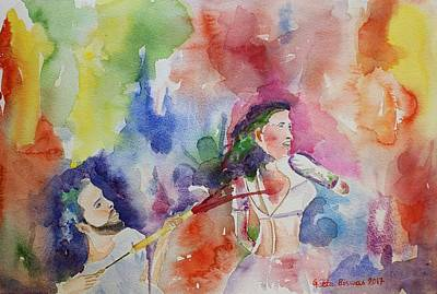 Painting - Holi The Spring Festival  by Geeta Biswas
