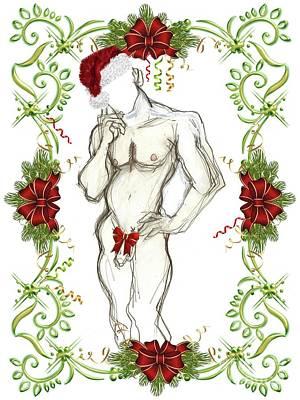 Mixed Media - Holiday Angel II - Holiday Cards by Carolyn Weltman