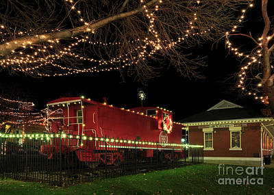 Photograph - Holiday Caboose by Dennis Hedberg