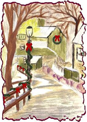 Painting - Holiday Card 01 by Donna Cavanaugh