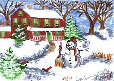 Painting - Holiday Card 07 by Donna Cavanaugh