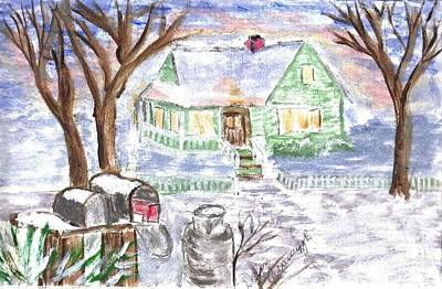 Painting - Holiday Card 08 by Donna Cavanaugh