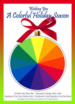 Digital Art - Holiday Card For Artists by Nancy Griswold