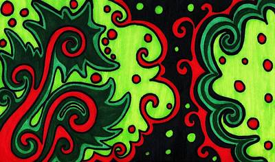 Ma. Drawing - Holiday Colors Abstract by Mandy Shupp
