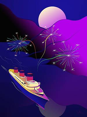 Digital Art - Holiday Cruise by Victor Shelley