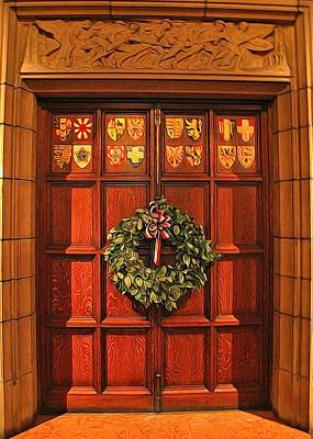 Digital Art - Holiday Door by Dan Sproul