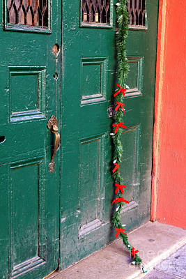 Photograph - Holiday Door In New Orleans by John Rizzuto