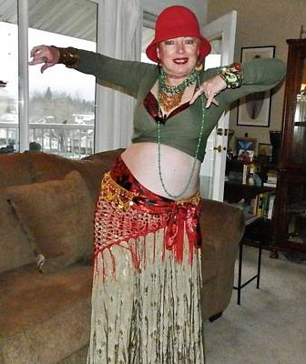 Photograph - Holiday Flapper Belly-dancer by VLee Watson
