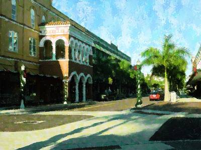 Holiday Ft. Myers Print by Florene Welebny
