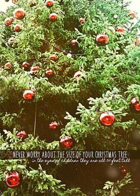 Holiday Garnish Quote Art Print by JAMART Photography