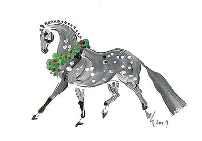 Holiday Gray Art Print by Liz Pizzo