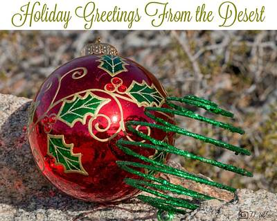 Photograph - Holiday Greetings From The Desert by Teresa Wilson
