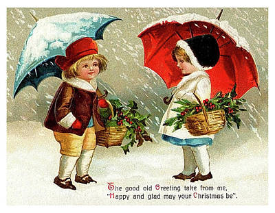 Friend Holiday Card Mixed Media - Holiday Greetings From Two Friends by Long Shot