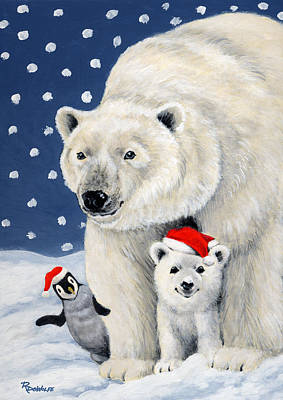 Holiday Greetings Art Print by Richard De Wolfe