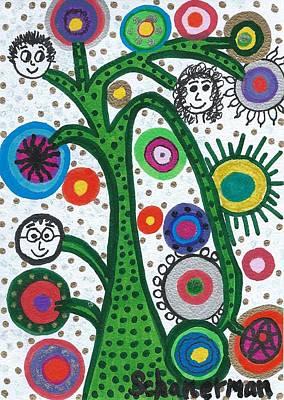 Uplifting Drawing - Holiday Happenings by Susan Schanerman