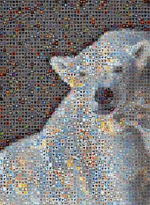 Grid Of Heart Photograph - Holiday Hearts Polar Bear Number Two by Boy Sees Hearts