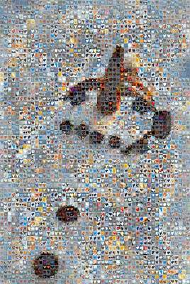 Grid Of Heart Photograph - Holiday Hearts Snowman by Boy Sees Hearts