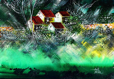 Beautiful Scenery Painting - Holiday Homes by Anil Nene