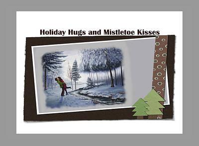 Painting - Holiday Hugs And Mistletoe Kisses by Saeed Hojjati