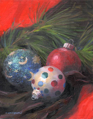 Painting - Holiday Jewels by Timothy Chambers