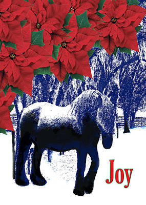 Xmas Cards Digital Art - Holiday Joy Card by Adele Moscaritolo