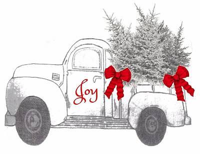 Art Print featuring the digital art Holiday Joy Chesilhurst Farm by Kim Kent