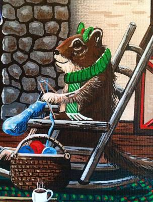 Painting - Holiday Knitting by Jennifer Lake