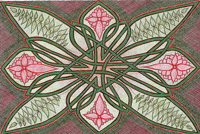 Drawing - Holiday Knot by Michele Bullock